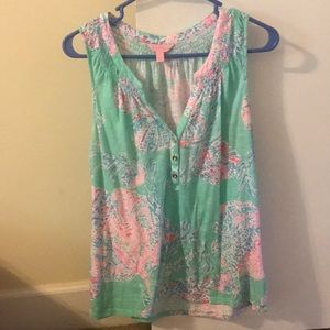 Essie lilly pulitzer sleeveless top L